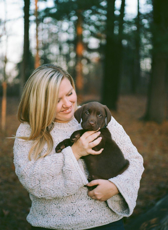 Sarah + her puppy on Ektar 100 120 film