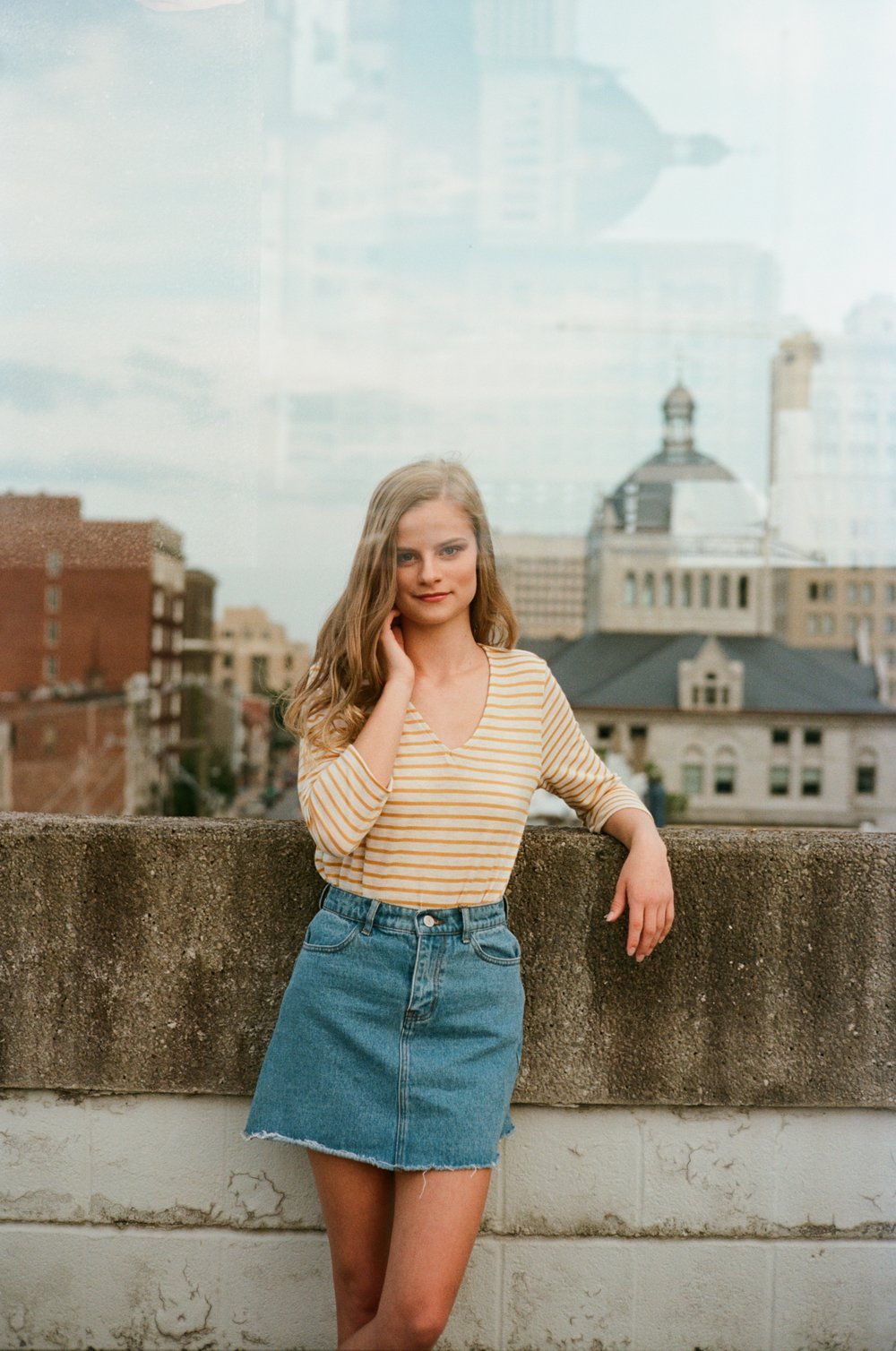 Molly in downtown Lexington, KY on Portra 160 35 mm film