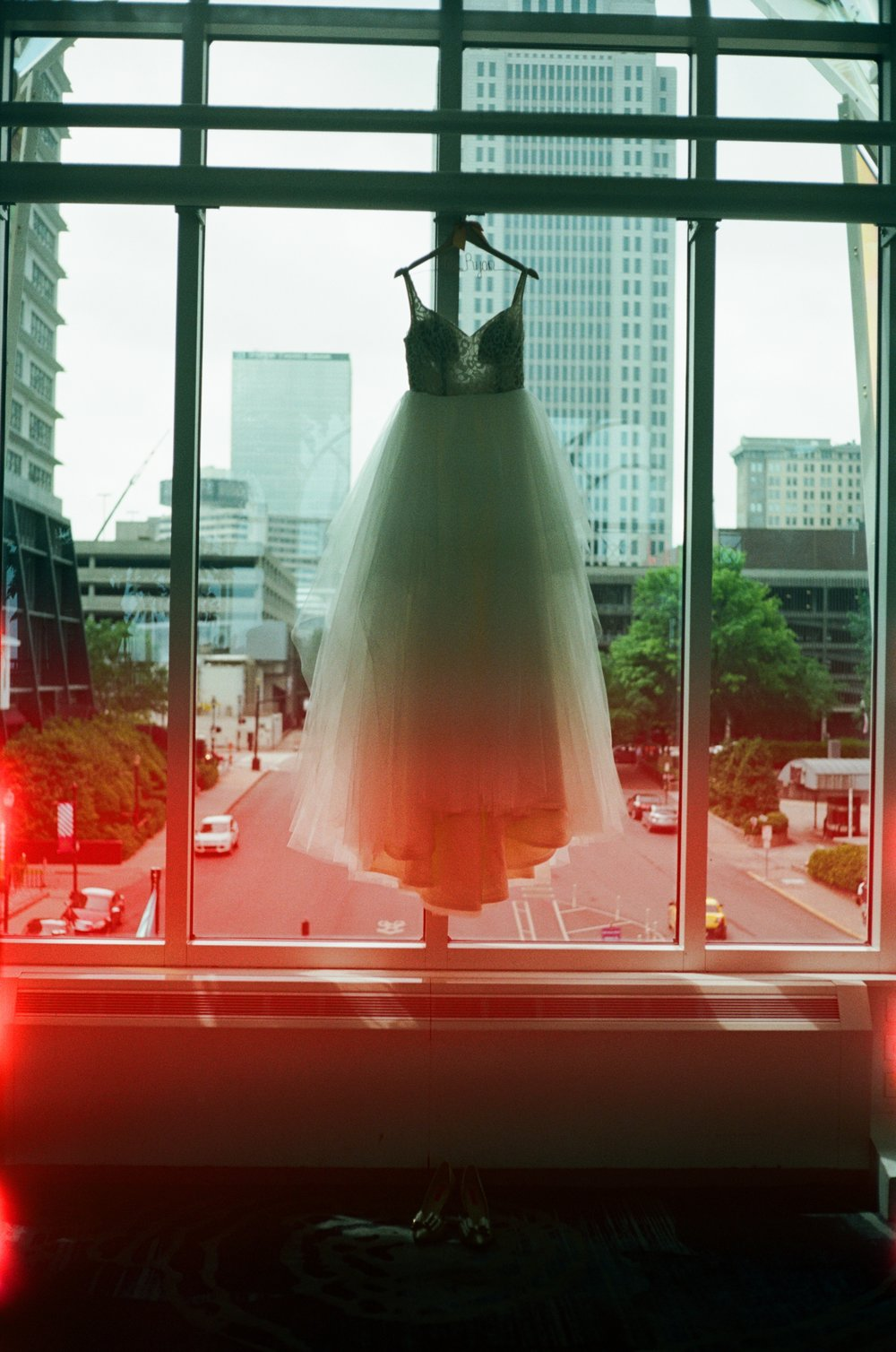 Maddie's wedding dress on Portra 160 35 mm film