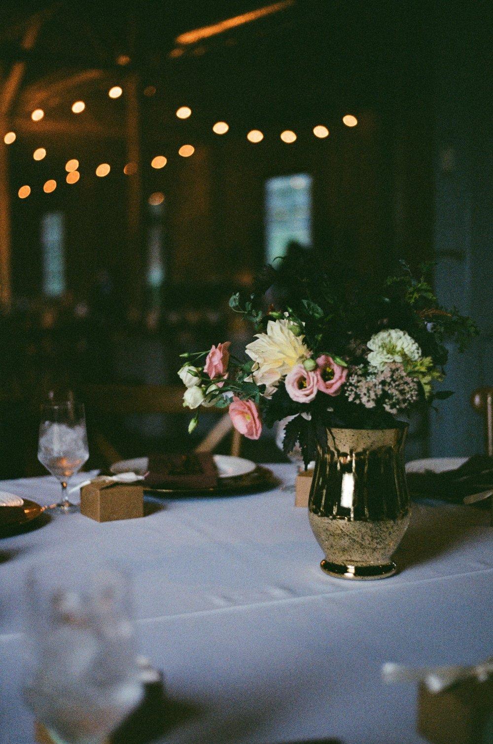 Wedding centerpieces on Kodak Gold 200 35 mm film