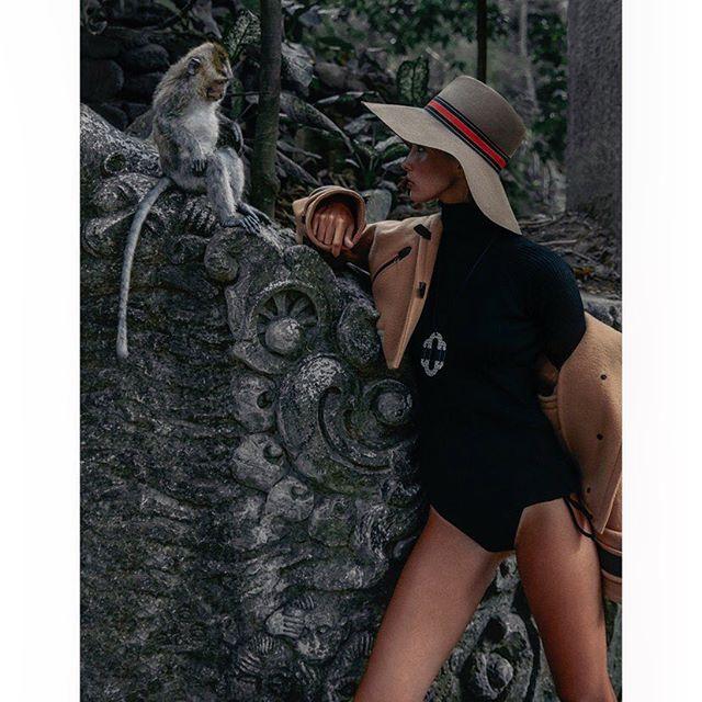 Monkeying around in Bali for a NEW cover shoot for SCMP 🐒🍃 . @melnikovakristina @balimodelagency #styling @hannahbeckstylist #hmua @floradickie_makeup @lovebalistarz shot at Mason park elephant sanctuary @elephantsbali @velweiss #bali #explorer #newwork #outnow #onlocation #fashion #photographer #carlaguler #canon