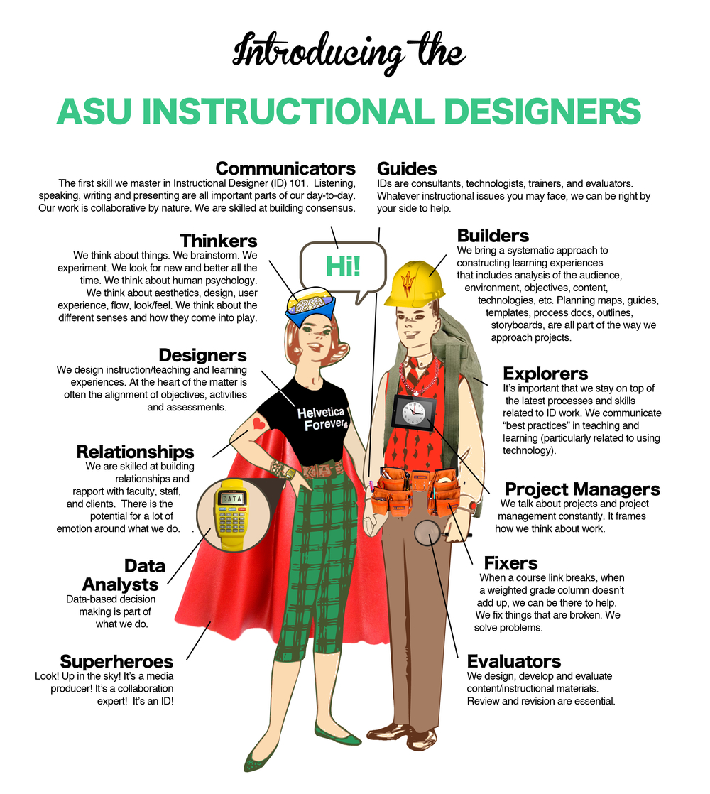 Meet the superhero IDs of Arizona State University. Who wouldn't want these folks at their side when building a course?!
