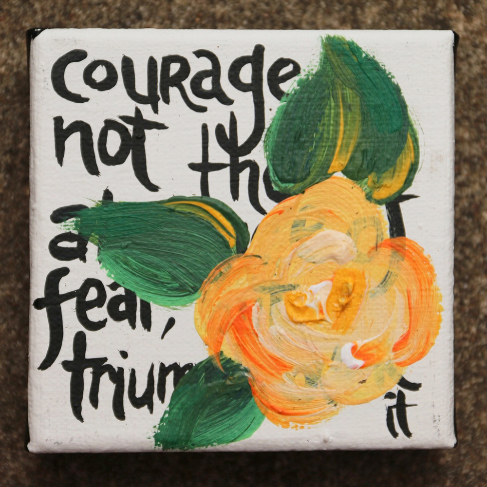 32. Courage is not the absence of fear but the triumph over it.