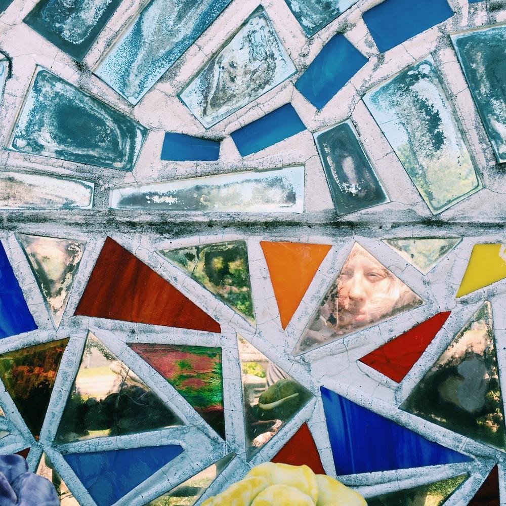 A mosaic selfie.