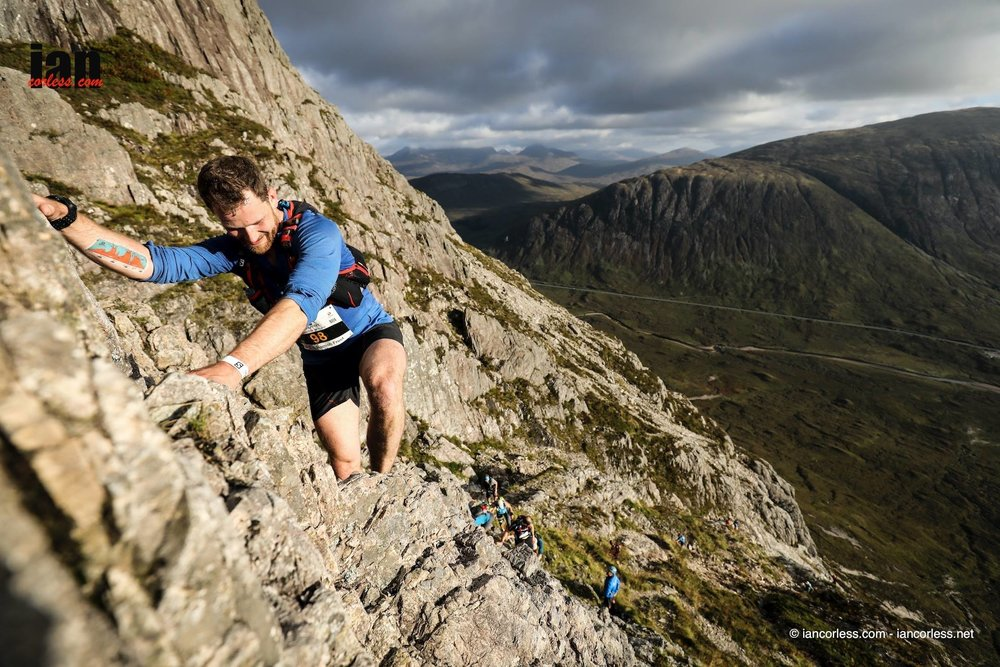 The author getting to grips with Curved Ridge © iancorless.com