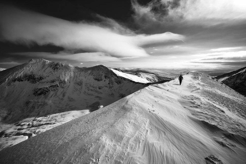 On the summit ridge of Na Gruagaichean.