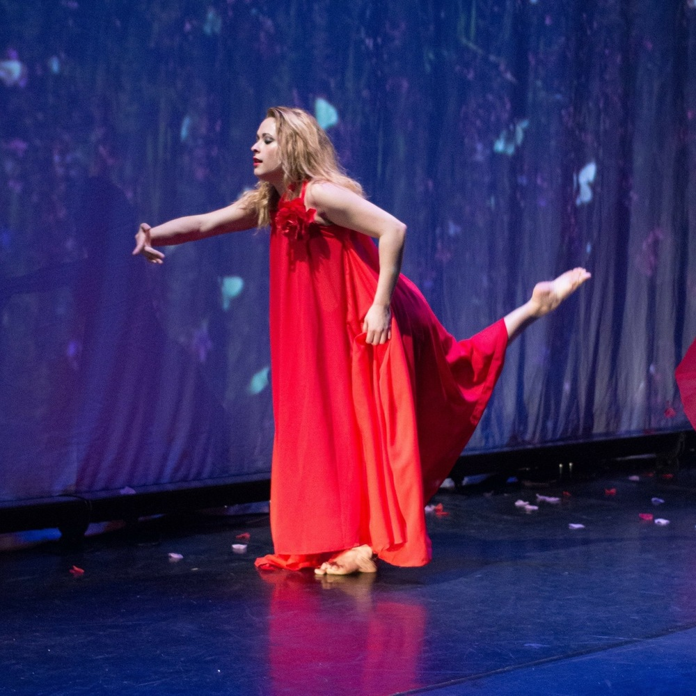 Ana Patricia Nuckols,Owner & Youth Programs Director - Performing in POEMAS with the Latin Ballet of Virginia