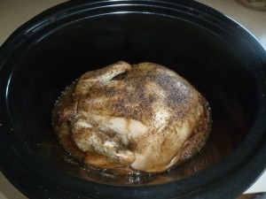 Crockpot chicken~ super simple, super easy, and seriously yummy.