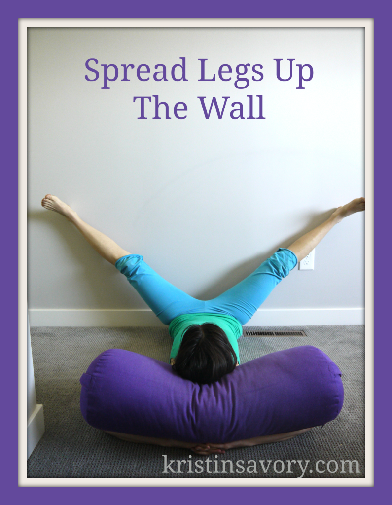 spread legs up the wall
