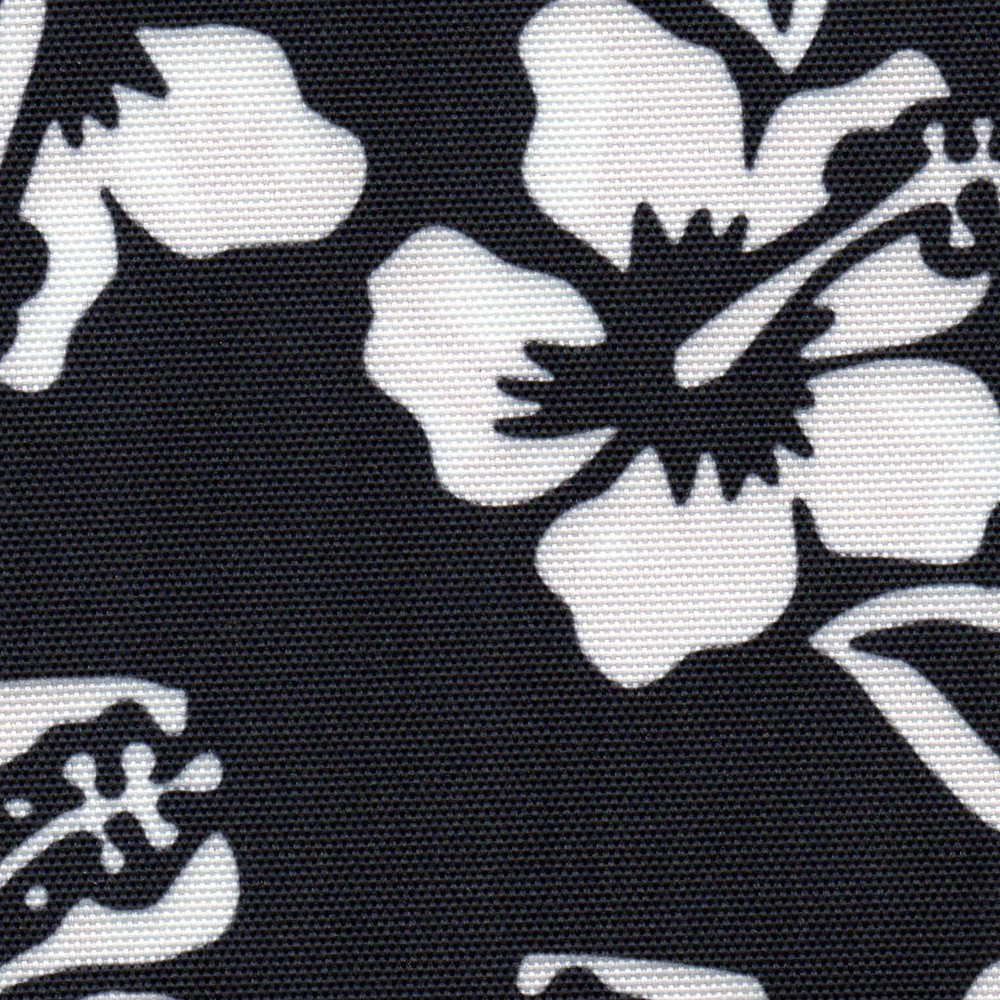 Hawaiian Print Black