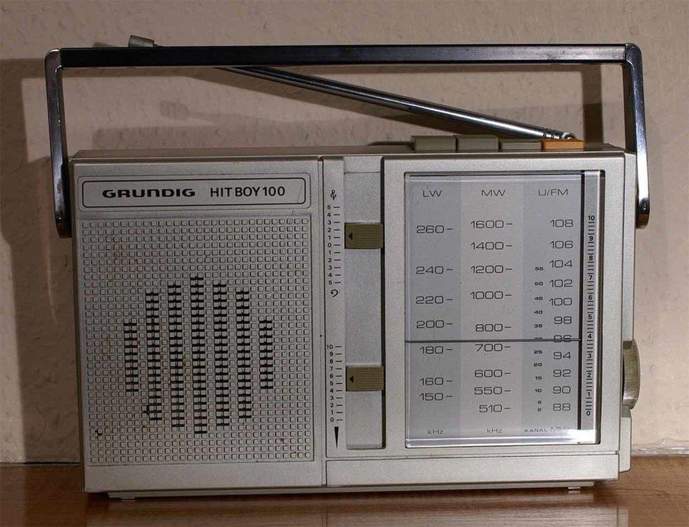 Grundig 'Hit Boy 100' radio 1980s - by  phillisca on Flickr