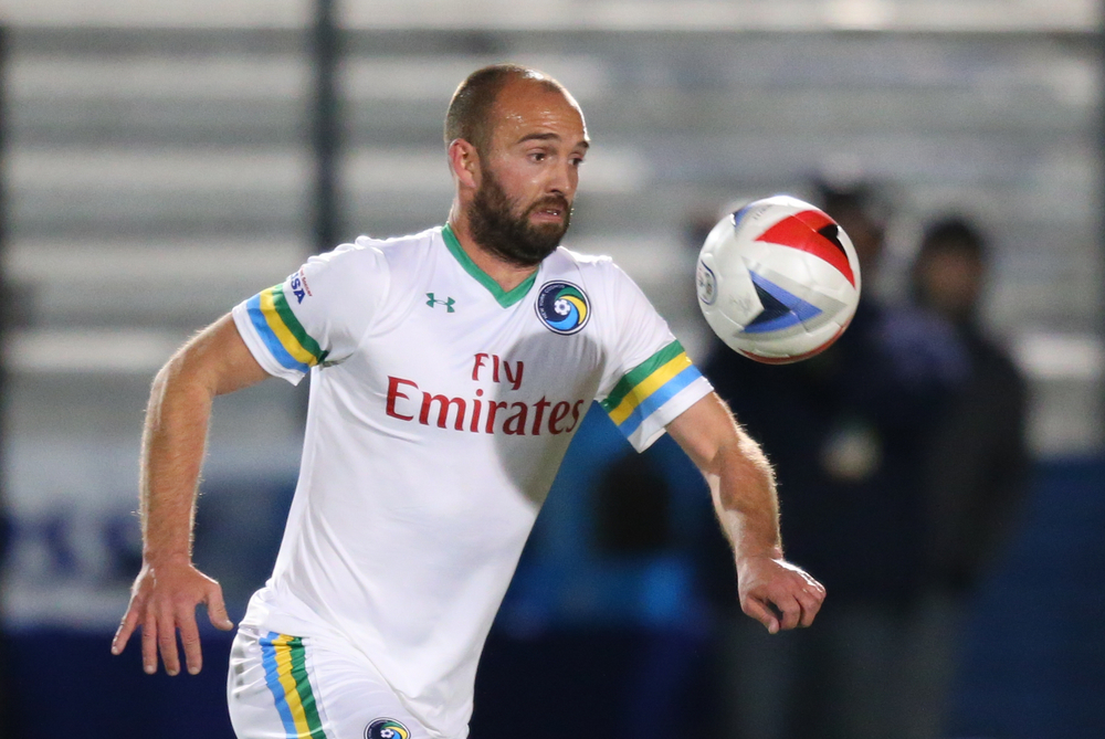 Adam Moffat in action for NY Cosmos