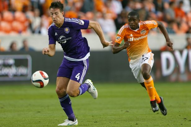 Sean St Ledger in MLS action for Orlando City
