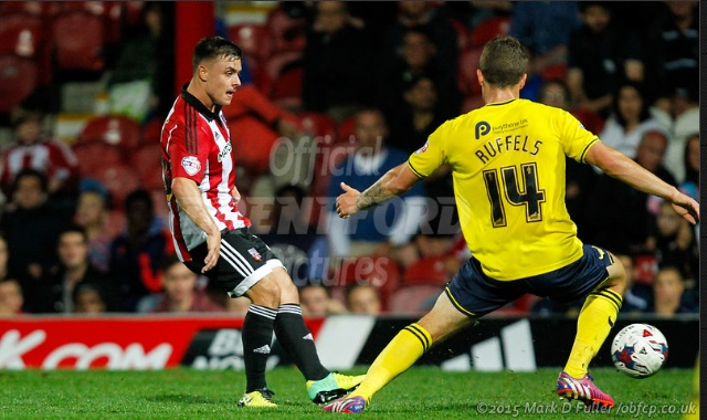 Williams in League Cup action for Brentford