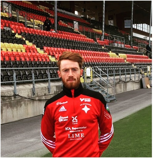 Pictured in the IFK Ostersund kit for the first time, April 2017