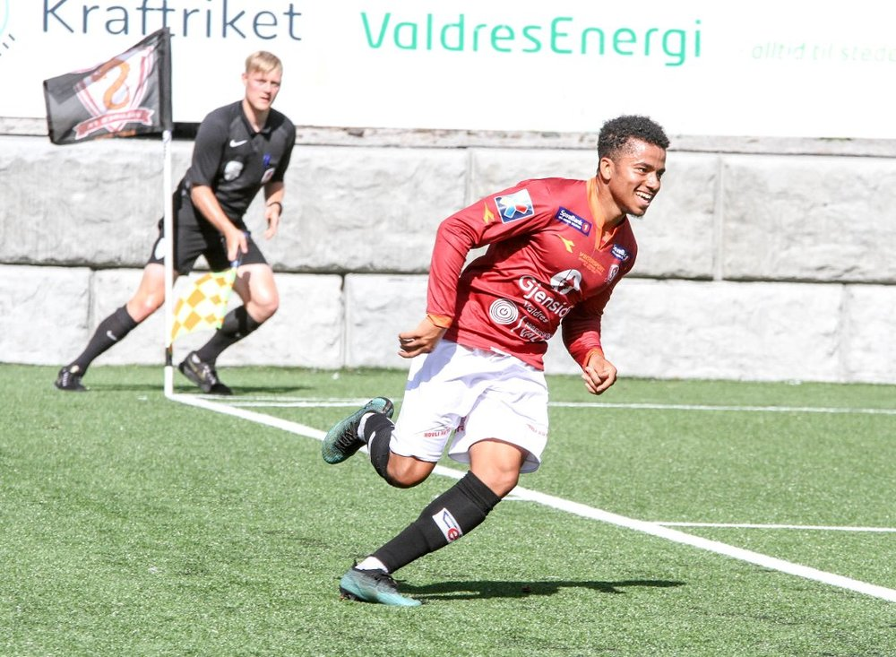 Kyle enjoying life on the field in Norway