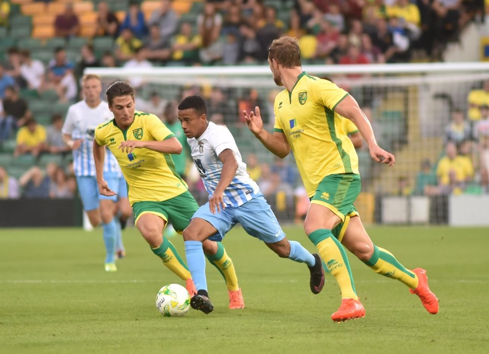 In action for the Sky Blues
