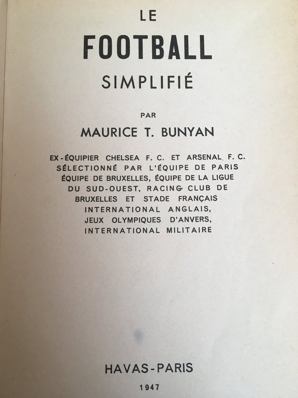 A summary of Maurice's career til 1947