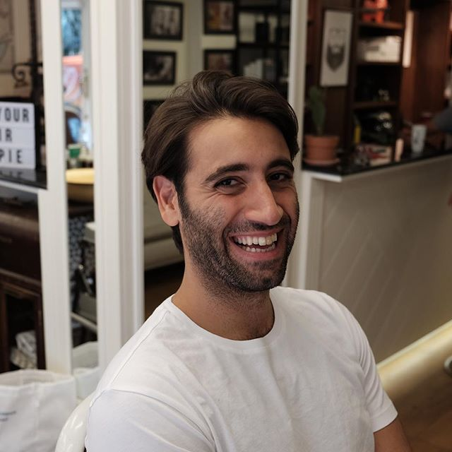 The effect a haircut can have on your day is a game changer. Get your smile on at #frontierbarber and #livesharp