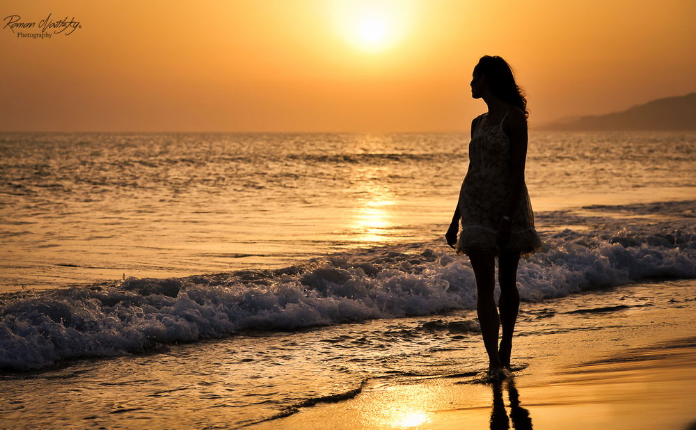 Sunset at Tarifa beach - Spain - Andalucia
