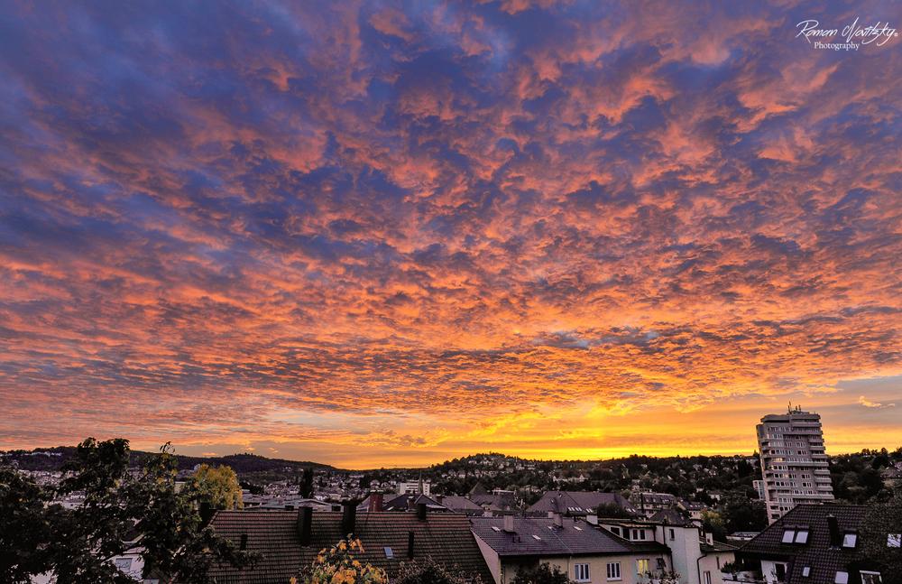 Balcony sunset view - Stuttgart