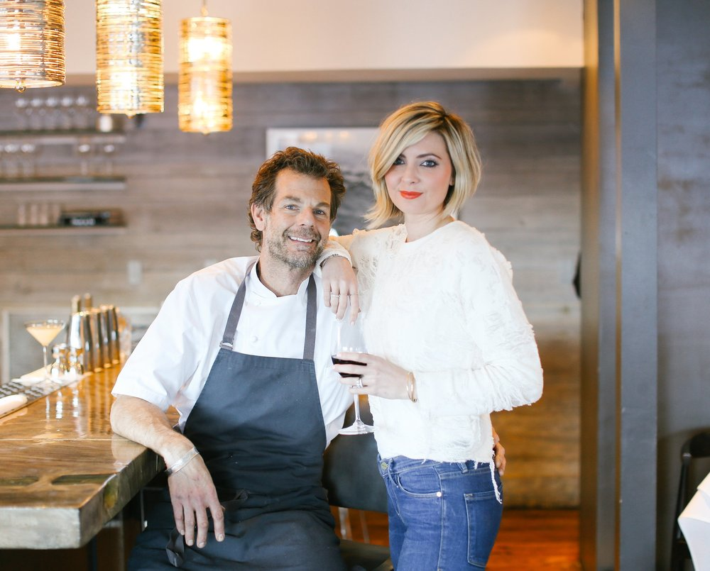 Chef C. Barclay Dodge and wife, Molly Dodge  - Photograph by Jordan Wise