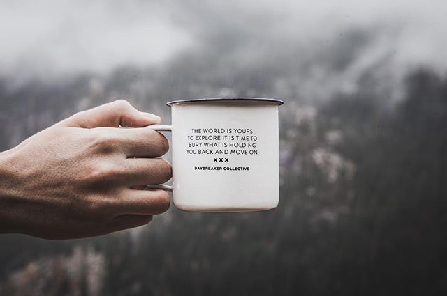 The world is yours to explore. Do not get held up with such trivial obstacles. The time is now to head into the darkness and illuminate the unknown!  Enamel Mug available at www.daybreakerco.com #illuminatetheunknown