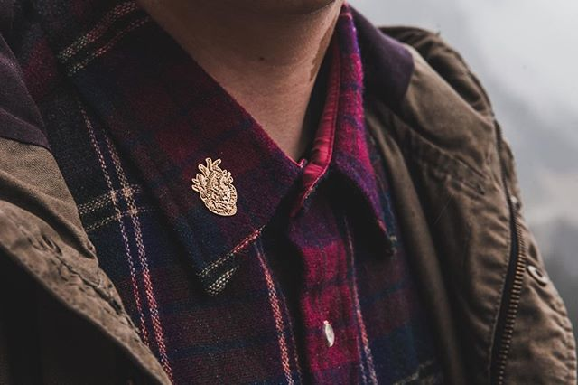 Through passion all things are possible.  Golden Heart pin available online at www.daybreakerco.com  Photo by @kylehouck