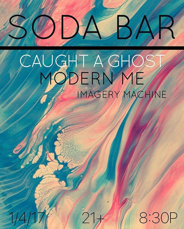We play @sodabarsd on 1/4/17 with @caughtaghost and @imagerymachine . Ticket Link in Bio.