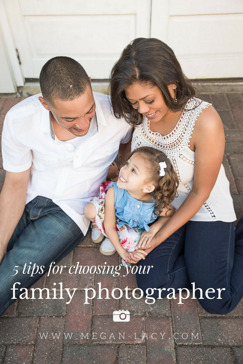 Feel empowered when you choose your family portrait photographer. Use these five tips to help!