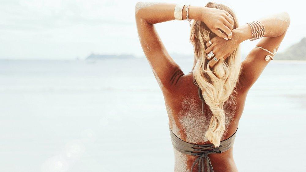 tan, bronzed, glow,