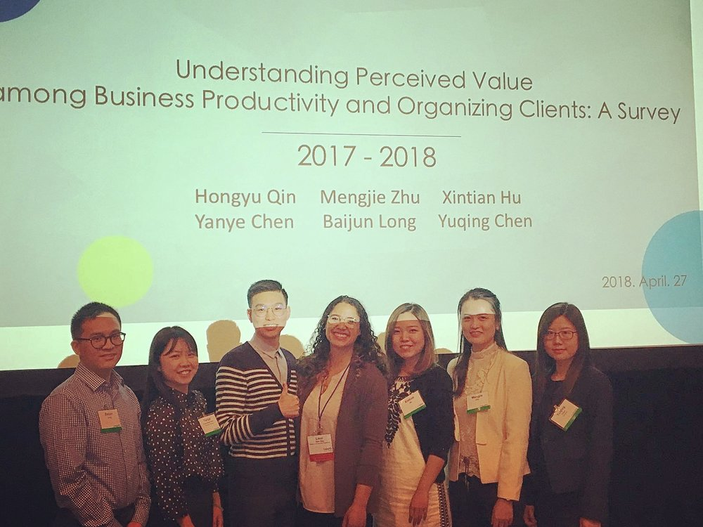 NAPO Conference 2018 - Fordham university students & myself presenting client research study