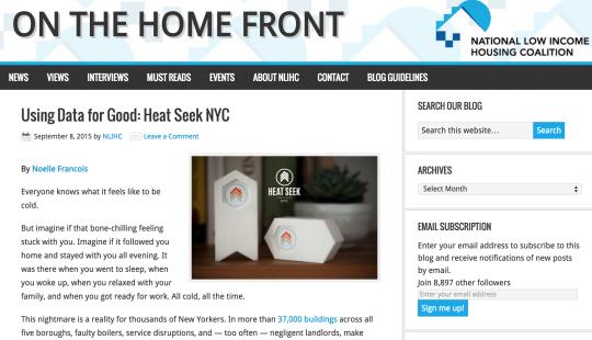 Guest Post - NLIHC — Heat Seek