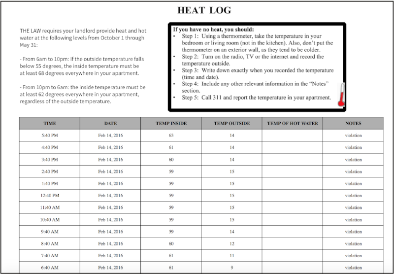 - Download comprehensive heat logs, which include the indoor temperature, outdoor temperature, time of day, and date for every reading captured by the sensor. Data is collected 24/7.