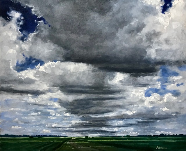 Dark Clouds Above Cane Fields by artist Billy Solitario