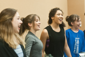 From left to right, performing students Mackenzie Taylor, Sophie Poole, Shelby Willis, Emily Brooks