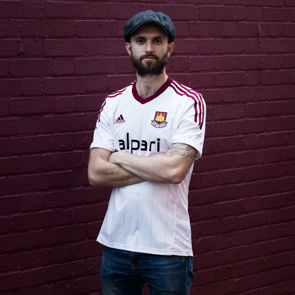 Joseph photographed before the final game at Upton park - May 2016
