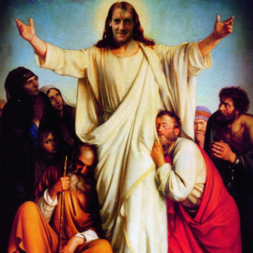 THE MESSIAH PLAYED IN MIDFIELD
