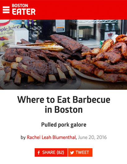 WHERE TO EAT BARBECUE IN BOSTON BOSTON EATER | JUNE 20th, 201666