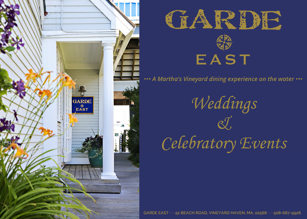 - Click on the digital brochure on the left to learn more about hosting a private event at Garde East!