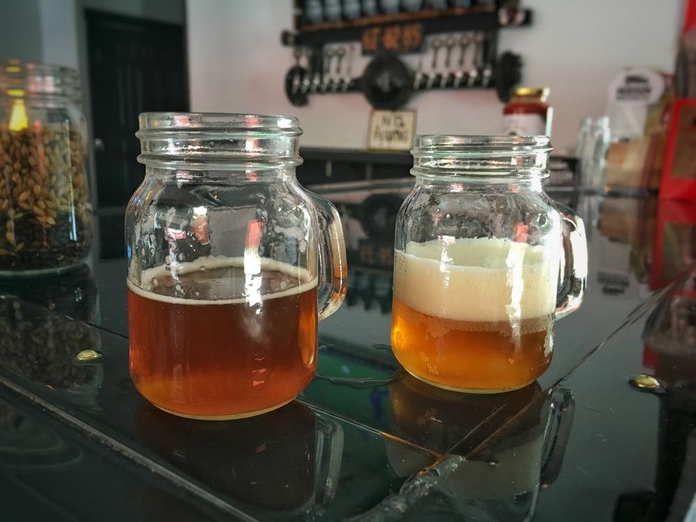 Mini mason jar sample glasses