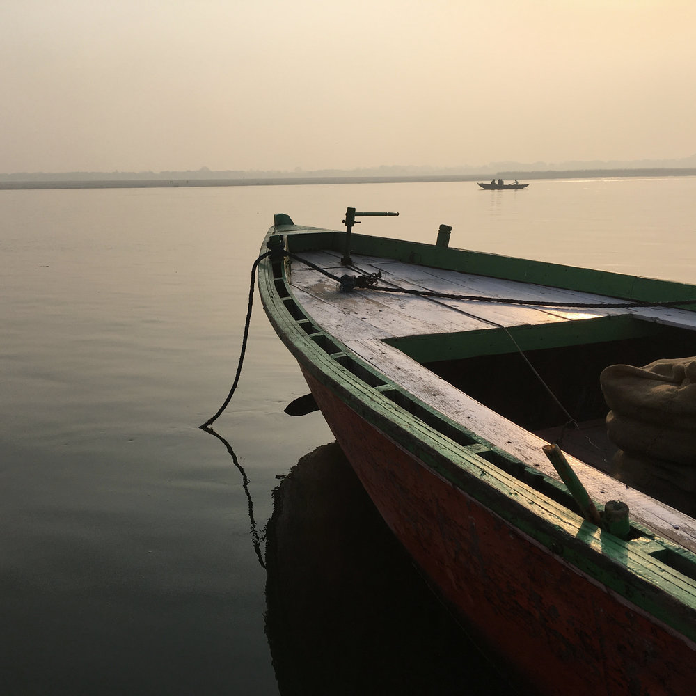 On the Ganges in Varanasi, India.