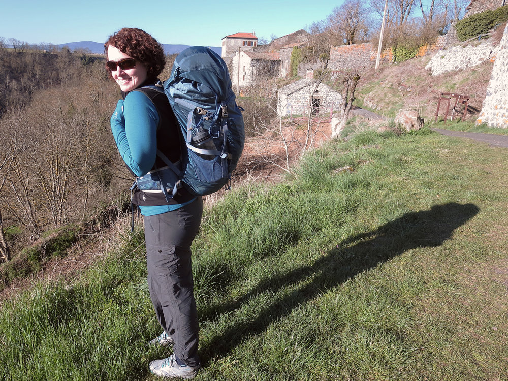 Beth on her first day of the Camino.