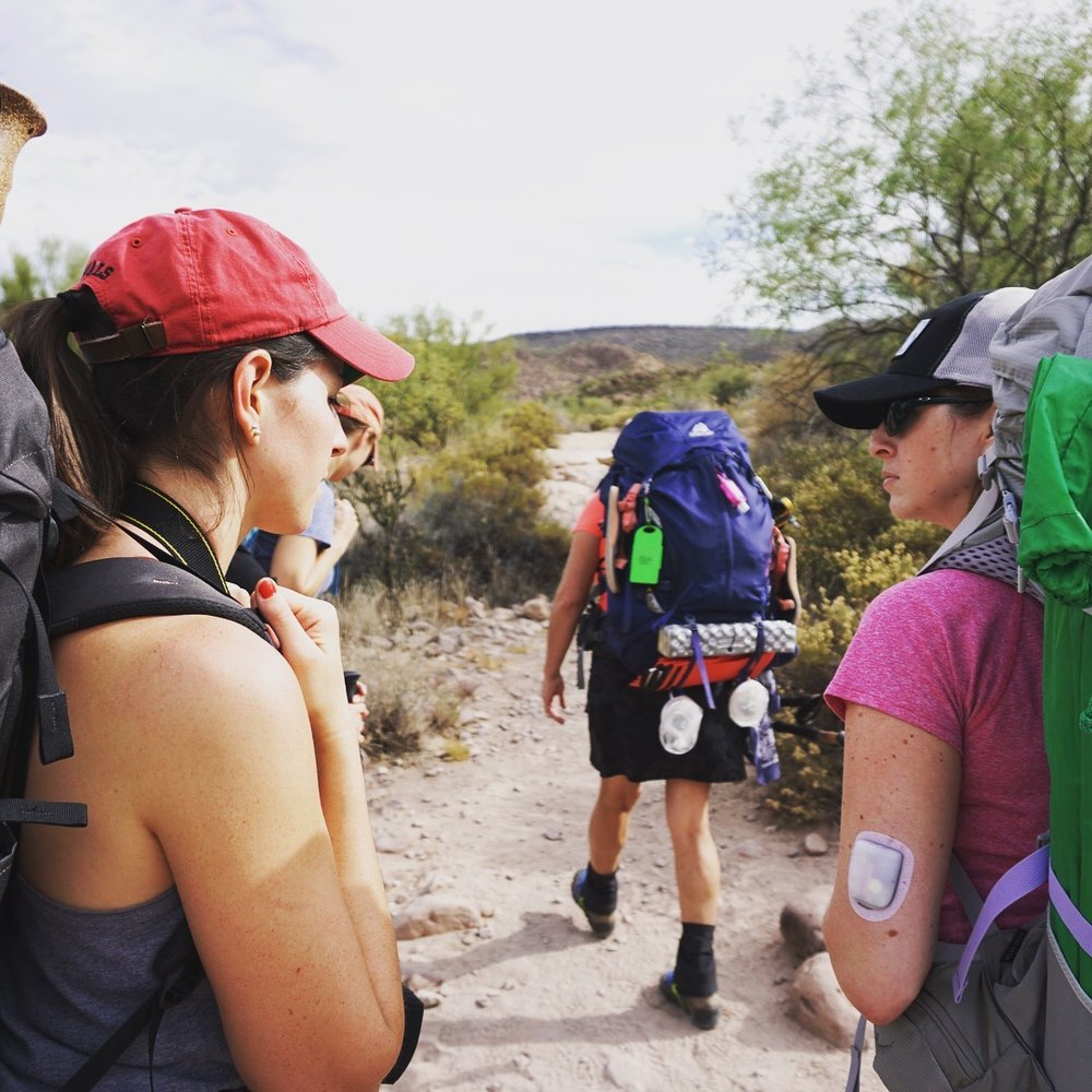 phoenix members learning backpacking skills in the superstition mountains.jpg