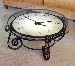Hammacher Clock Table