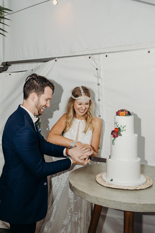 Always love a good cake cutting shot! Image by Folk & Follow