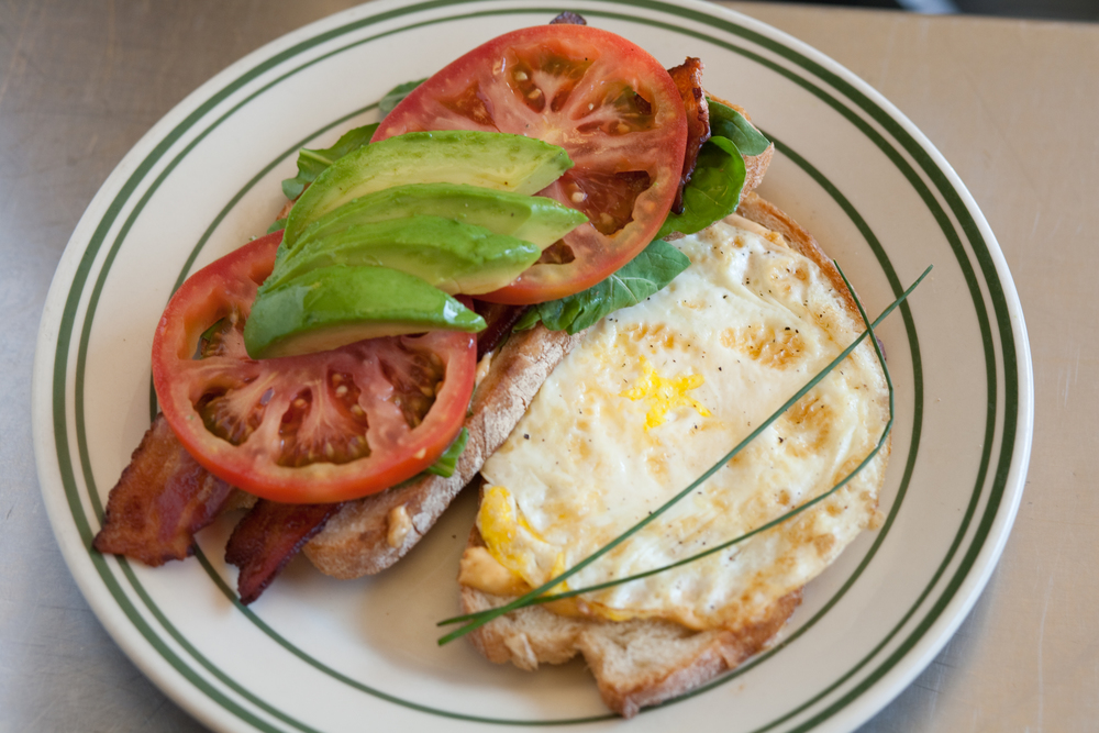 BLTA with Fried Egg