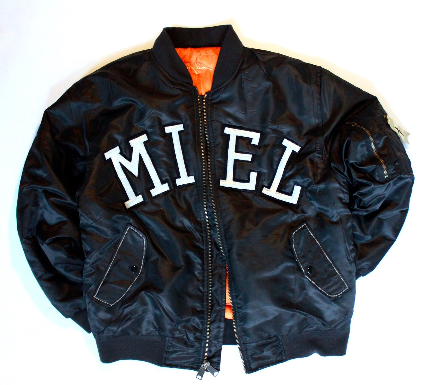 MIEL Y NOIR // 'Abeilles' Military Flight Jacket — MIEL Y NOIR ...