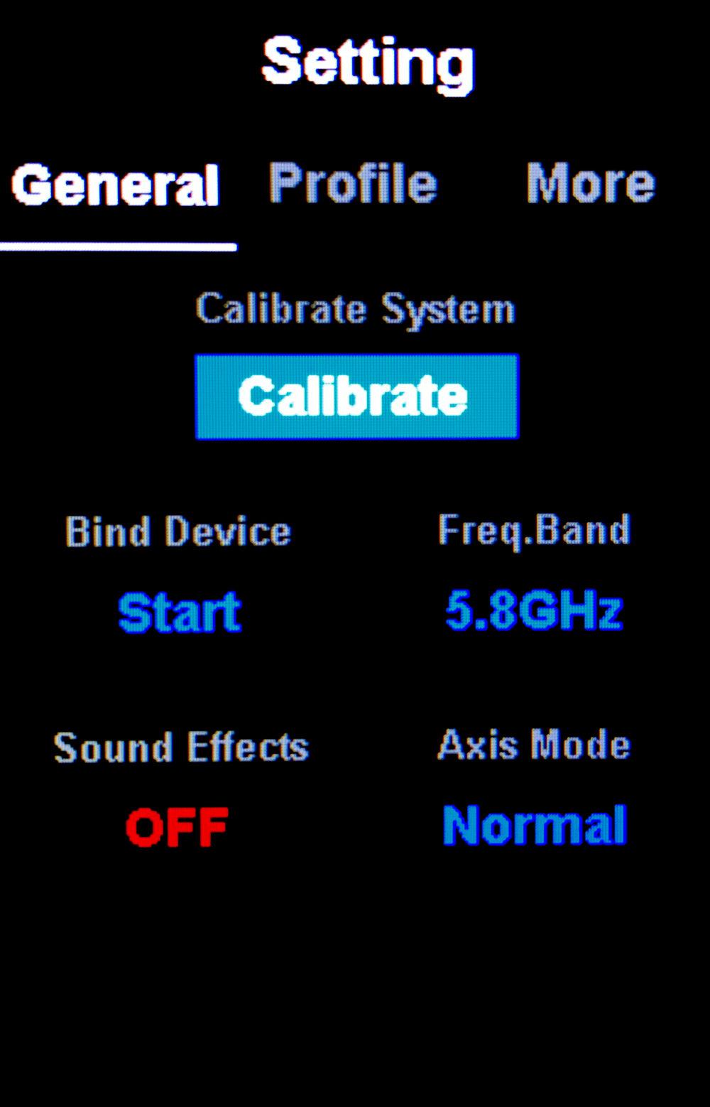 Setting > General > Freq. Band