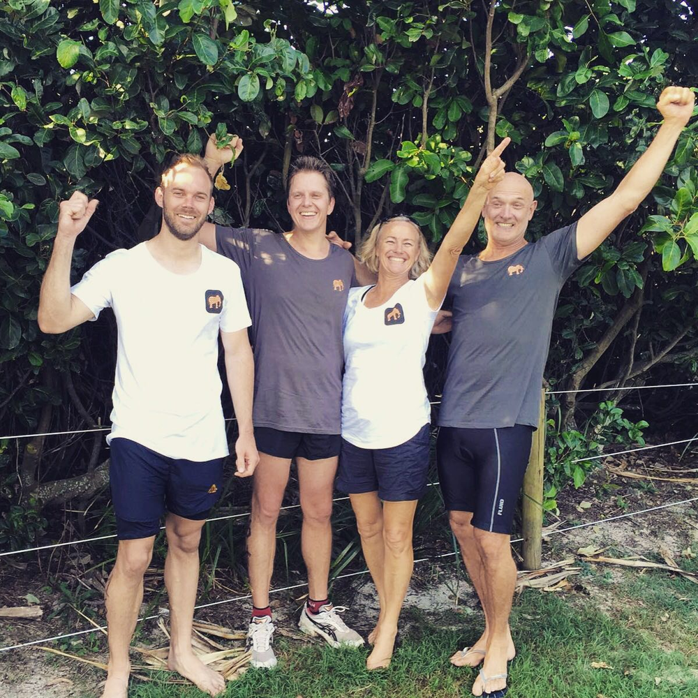 Jan, Jaco, Cyndi and Johan competed in the 2016 Byron Bay Triathlon